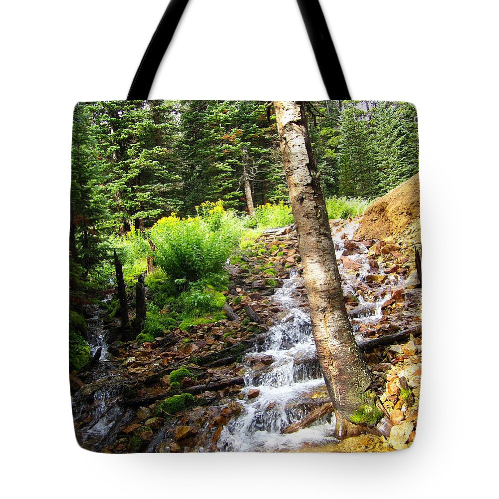 Spring Tote Bag featuring the photograph Spring Of Water by Kimberly Noxon