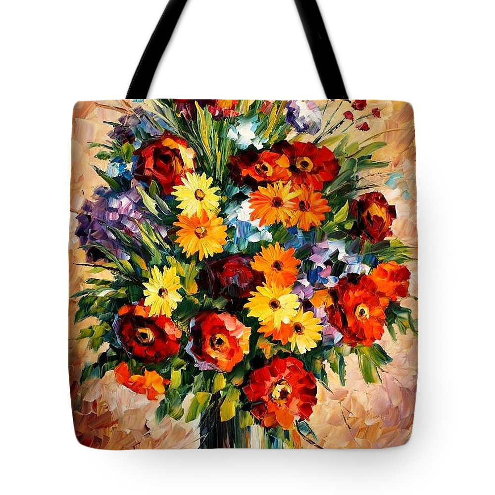 Afremov Tote Bag featuring the painting Spring Passion by Leonid Afremov
