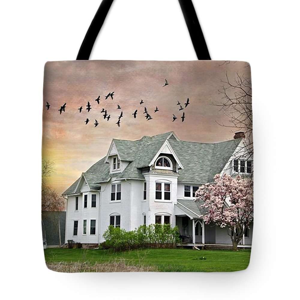 White House Tote Bag featuring the photograph Spring Pinks by Stephanie Calhoun