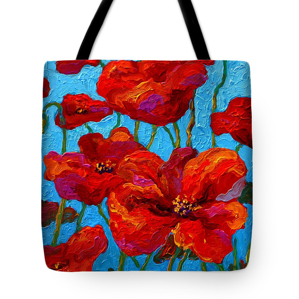 Poppies Tote Bag featuring the painting Spring Poppies by Marion Rose