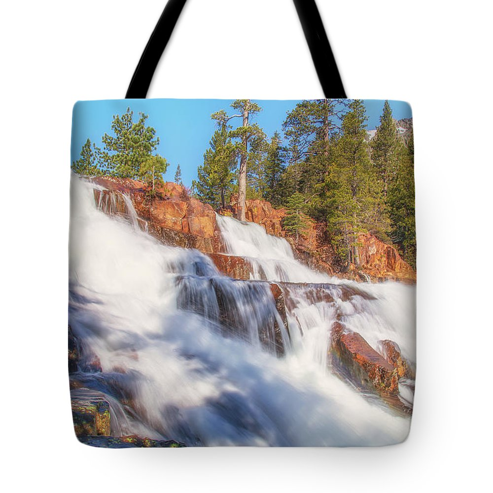 Landscape Tote Bag featuring the photograph Spring Runoff At Glen Alpine Falls by Marc Crumpler