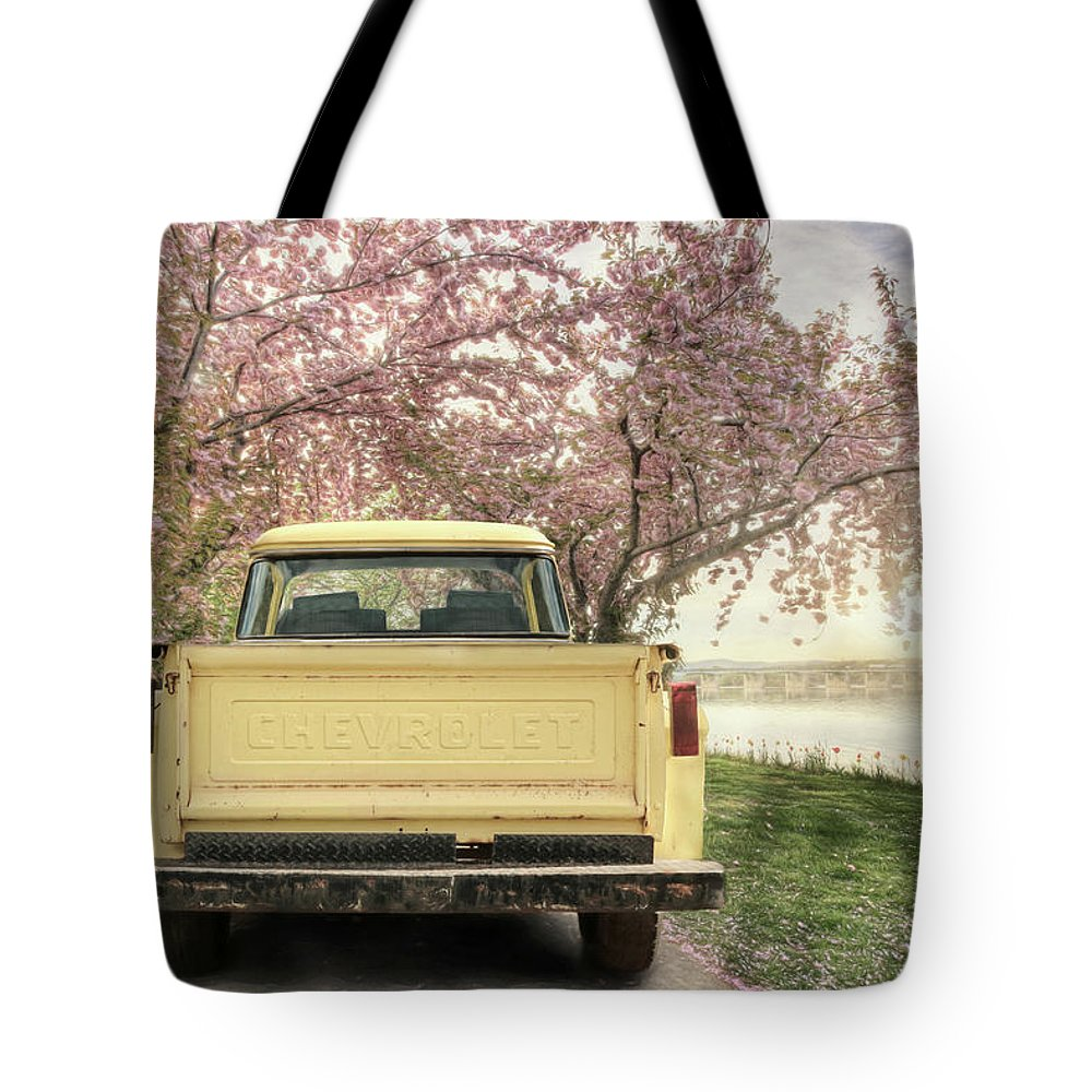 Truck Tote Bag featuring the photograph Spring Scenery by Lori Deiter