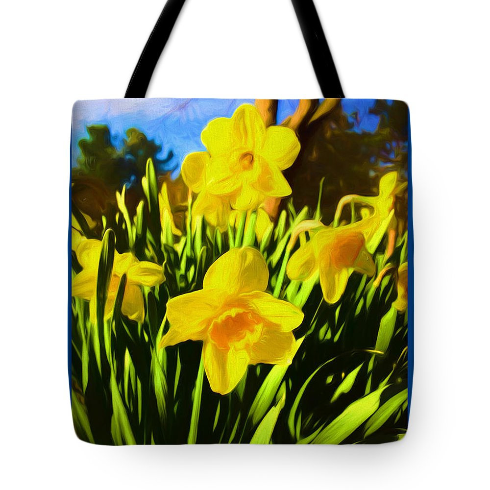 Nature Tote Bag featuring the mixed media Spring Series Painting by Debra Lynch