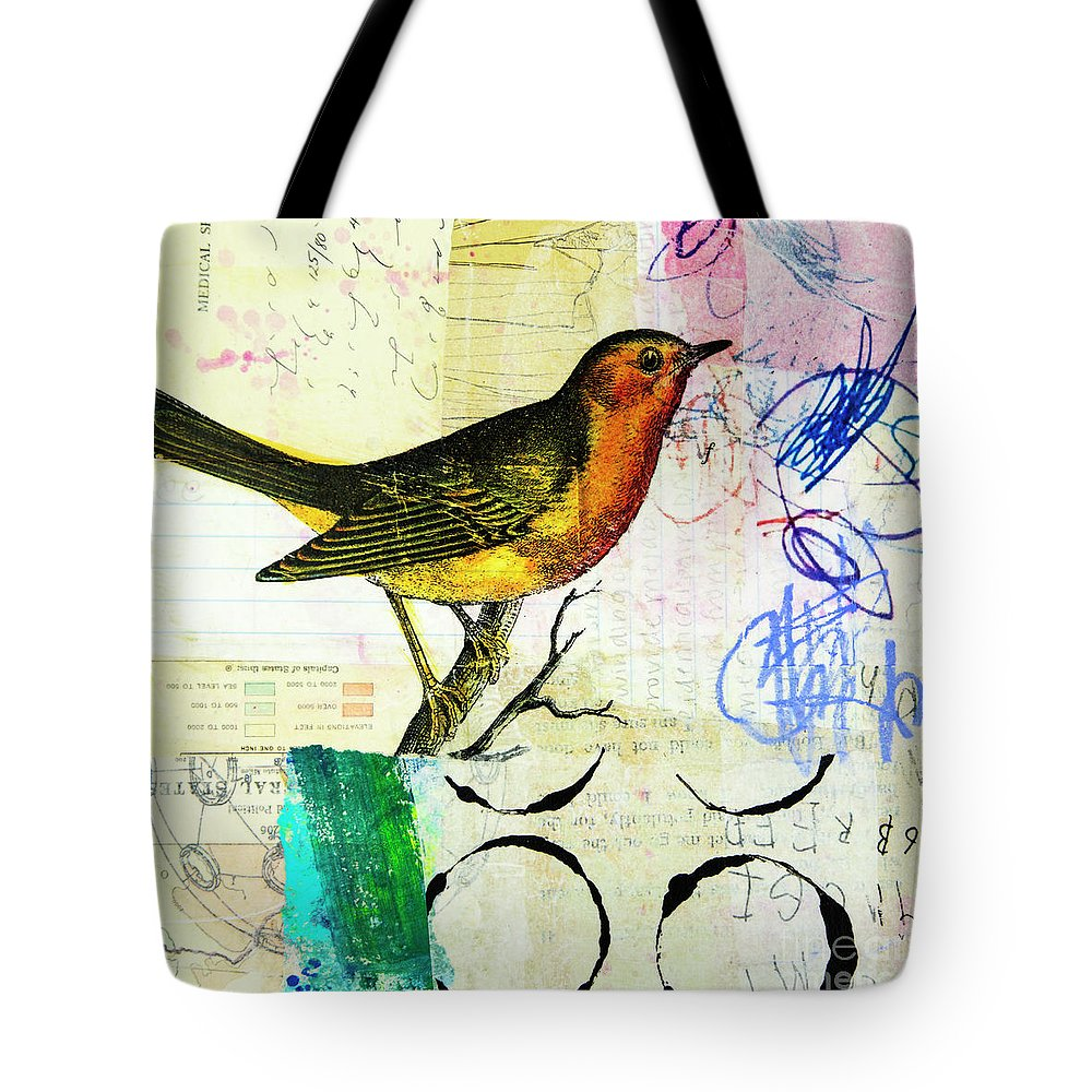Song Birds Mixed Media Tote Bags