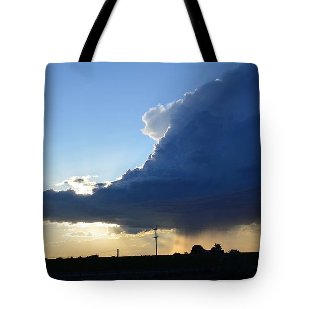 Storm Tote Bag featuring the photograph Go On Get Out Of Here by Kayla Craig