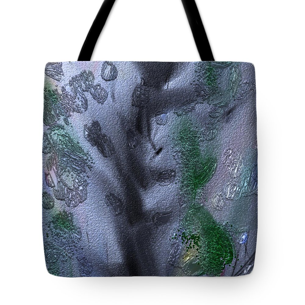 Tree Tote Bag featuring the painting Spring Stretch by Bill Minkowitz