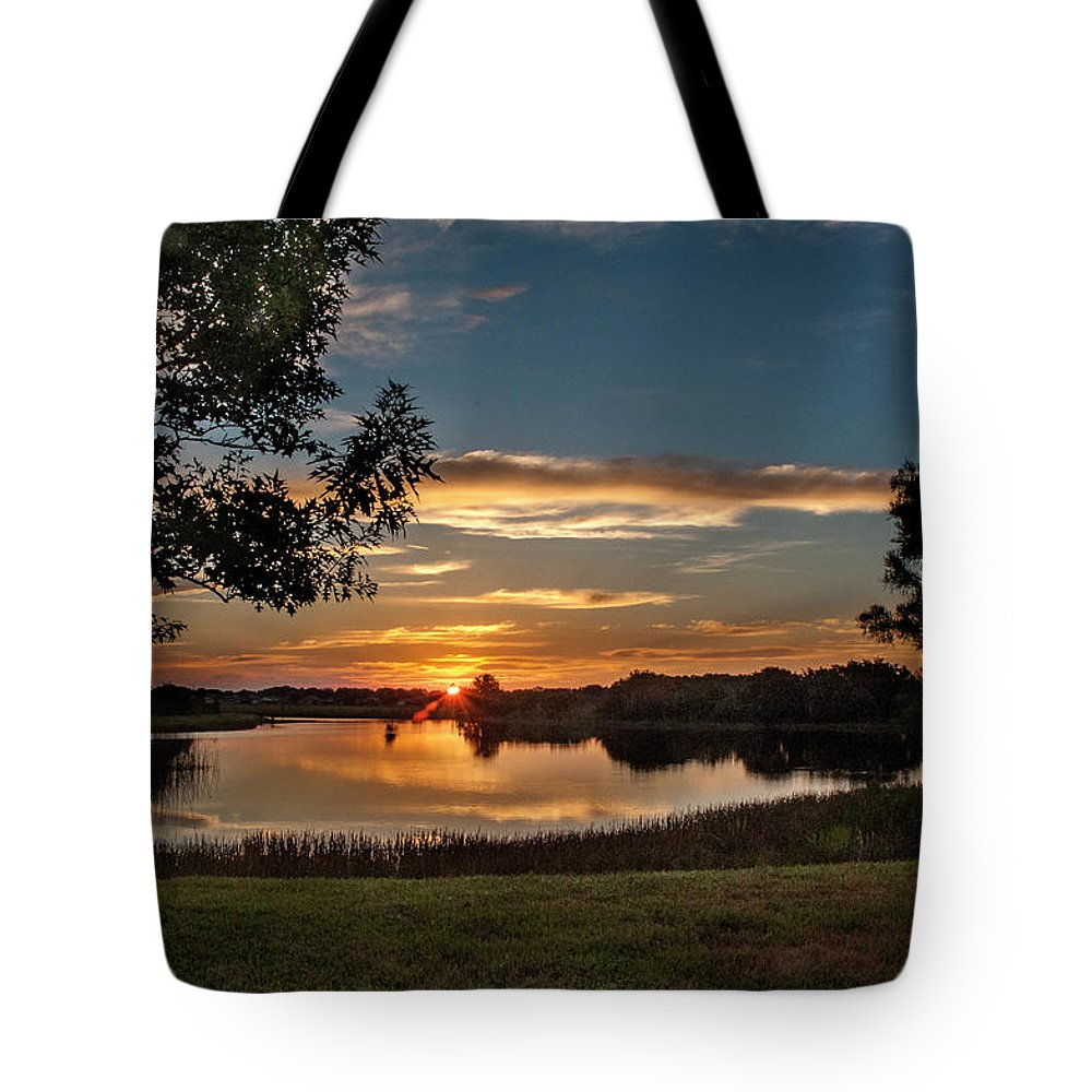 Sunrise Tote Bag featuring the photograph Spring Sunrise At Valhalla by Norman Johnson