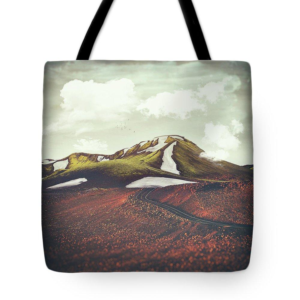 Winter Landscapes Digital Art Tote Bags