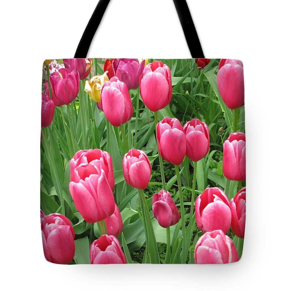 Floral Tote Bag featuring the photograph Spring Time Floral Tulips Galore by Adri Turner