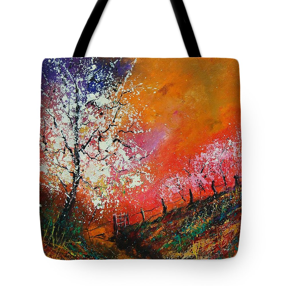 Spring Tote Bag featuring the painting Spring Today by Pol Ledent