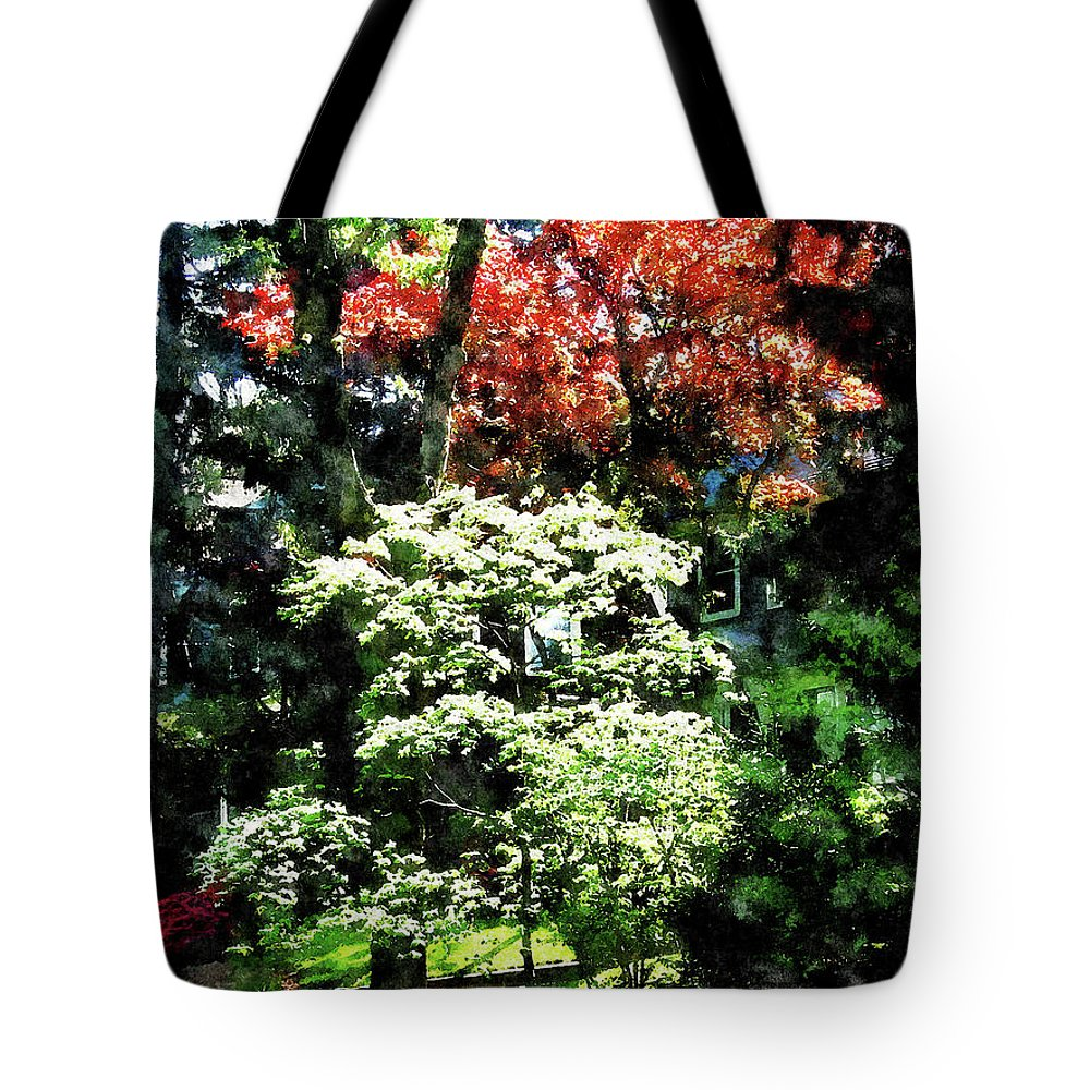 Spring Tote Bag featuring the photograph Spring Trees by Susan Savad