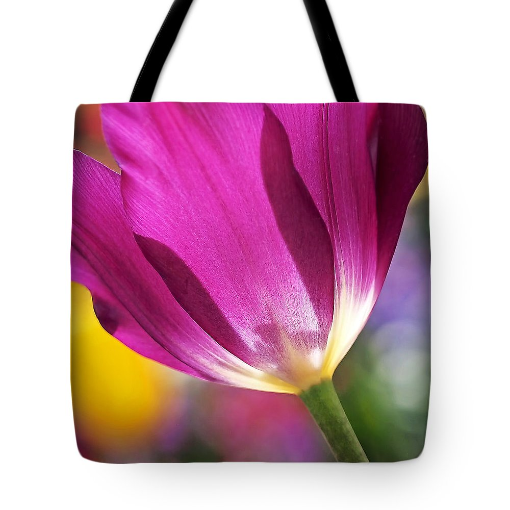 Flower Tote Bag featuring the photograph Spring Tulip by Rona Black