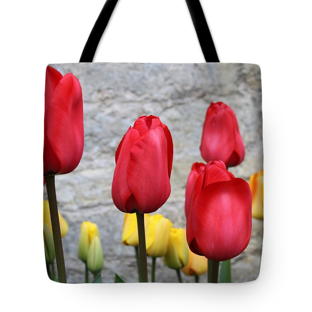 Tulips Tote Bag featuring the photograph Spring Tulips by Lauri Novak