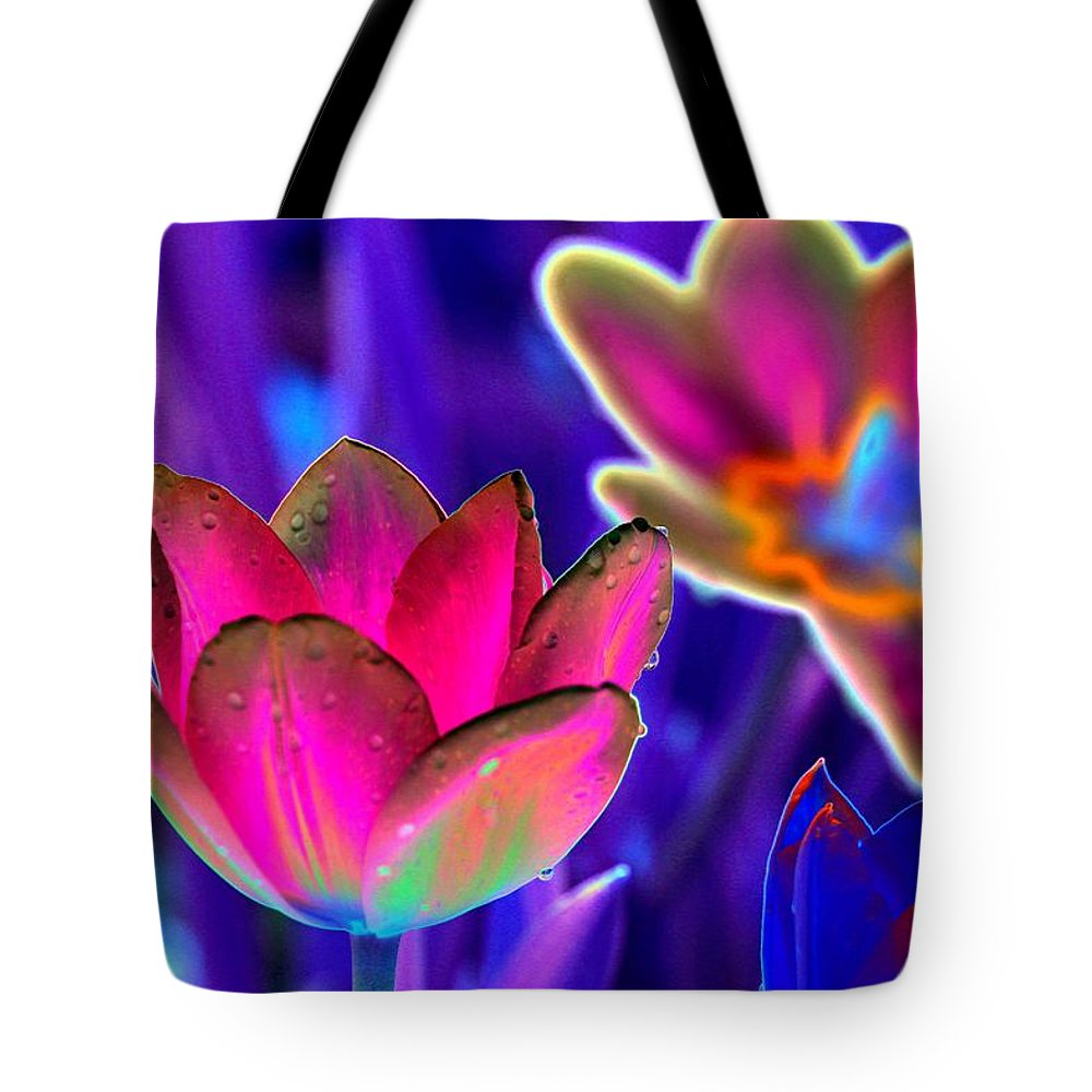 Tulip Tote Bag featuring the photograph Spring Tulips - Photopower 3152 by Pamela Critchlow
