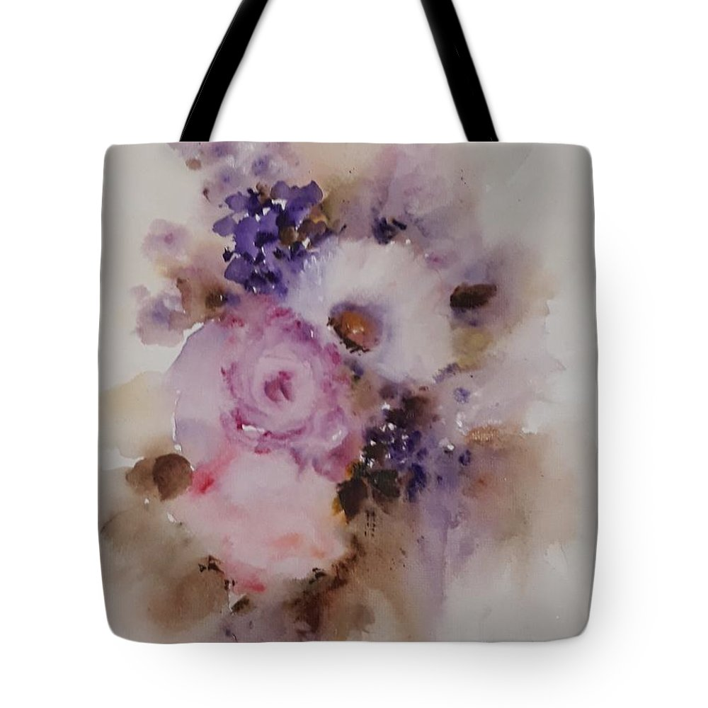 Flowers Tote Bag featuring the painting Spring by Vesna Grundler