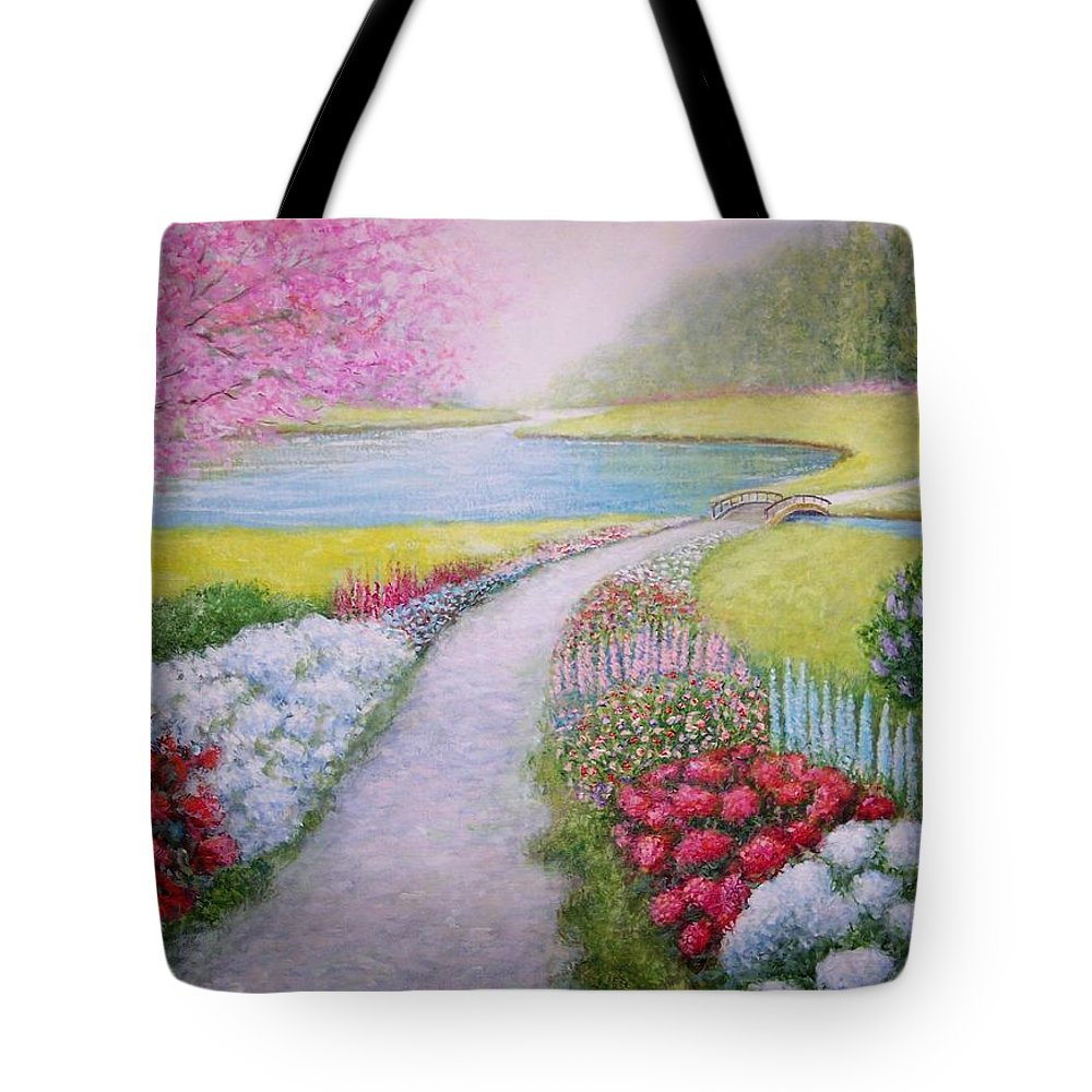 Landscape Tote Bag featuring the painting Spring by William H RaVell III