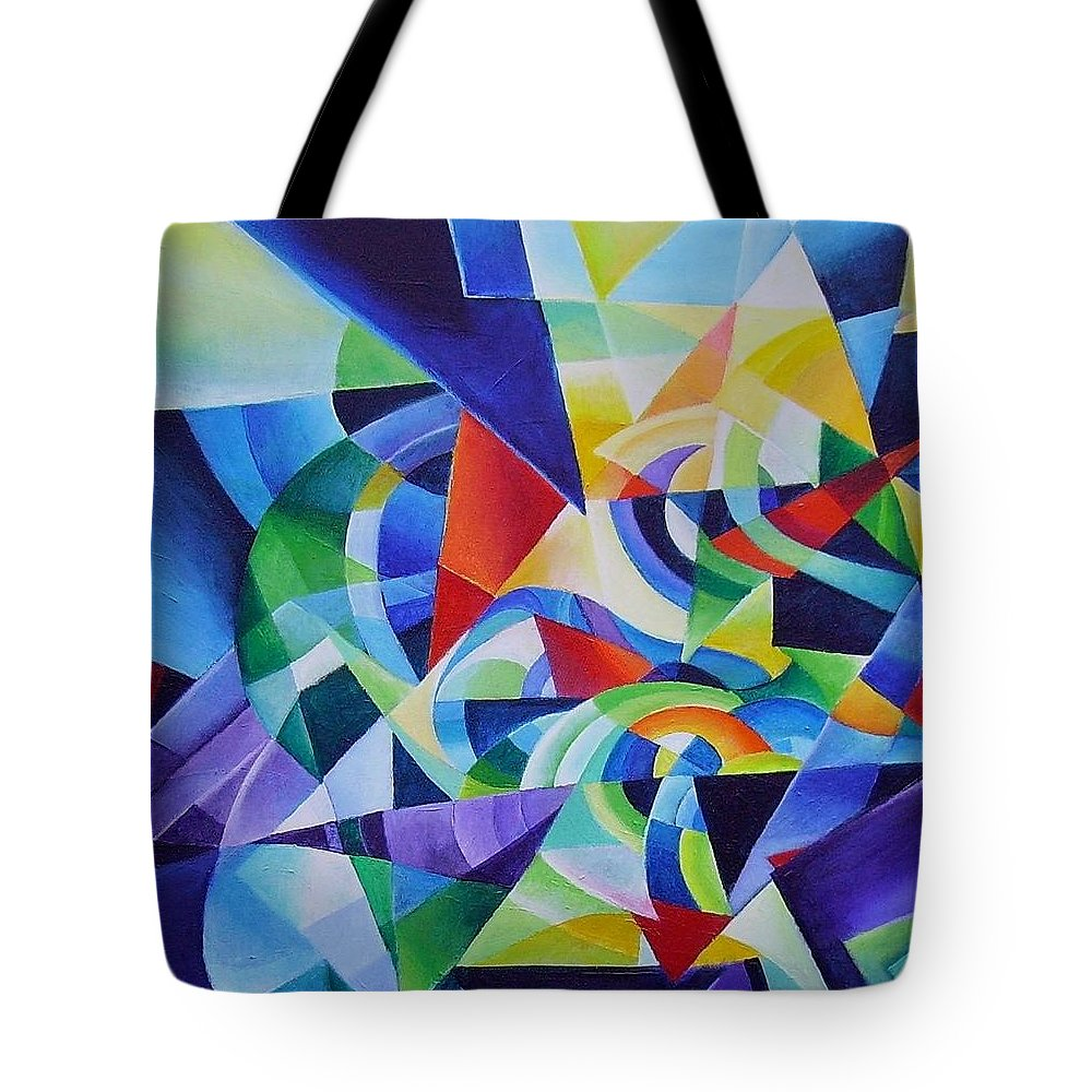 Spring Antonio Vivaldi Acrylic Abstract Music Four Seasons Tote Bag featuring the painting Spring by Wolfgang Schweizer