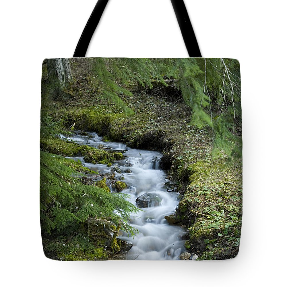Stream Tote Bag featuring the photograph Springtime Creek by Idaho Scenic Images Linda Lantzy