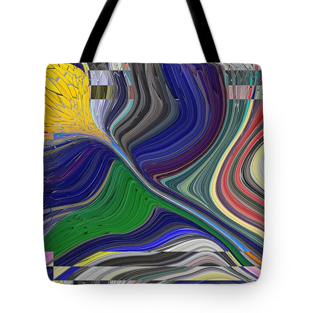 Abstract Tote Bag featuring the digital art Springtime Delight by Tim Allen