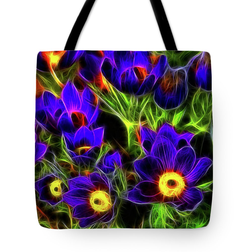 Flowers Tote Bag featuring the photograph Springtime Fire by Steve Sullivan