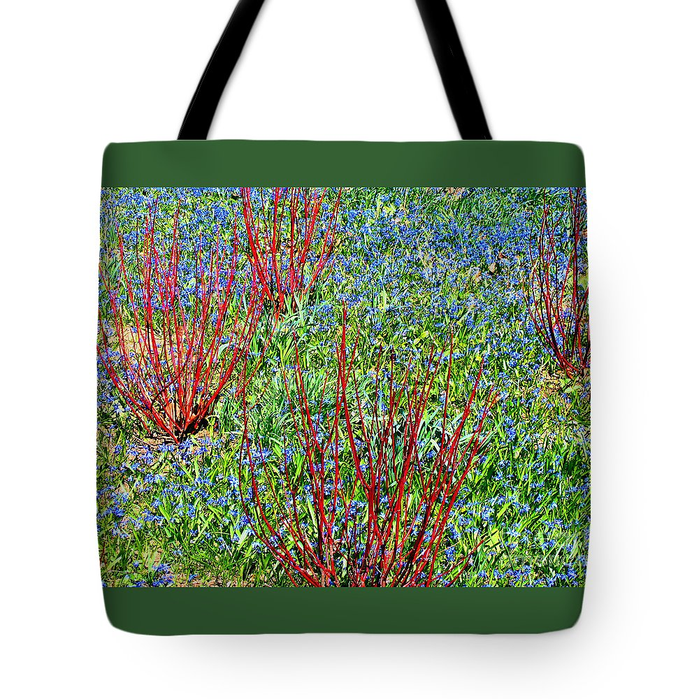 Spring Tote Bag featuring the photograph Springtime Impression by Ann Horn