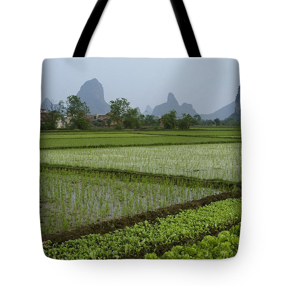Asia Tote Bag featuring the photograph Springtime In Guangxi by Michele Burgess