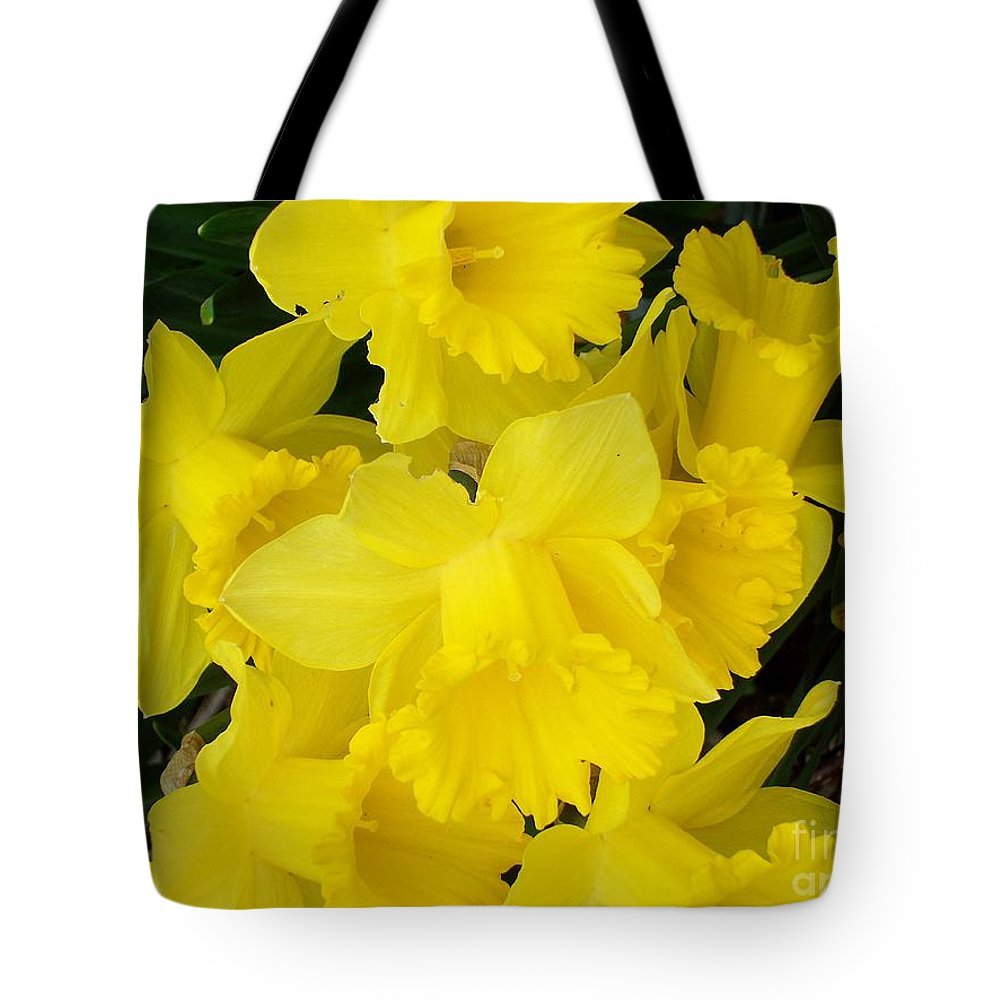 Daffodils Tote Bag featuring the photograph Springtime In Ireland by Patrick J Murphy