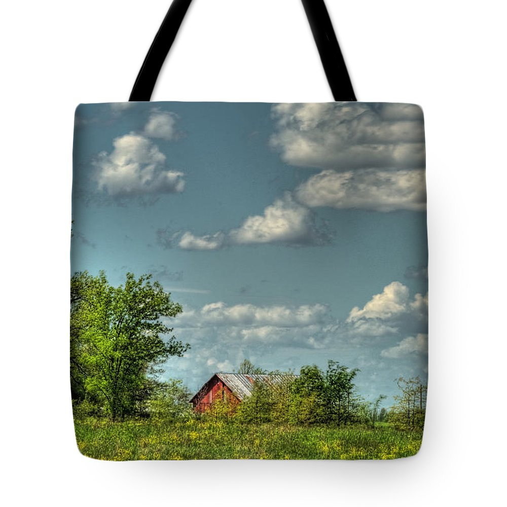 Barn Tote Bag featuring the photograph Springtime by Pamela Baker