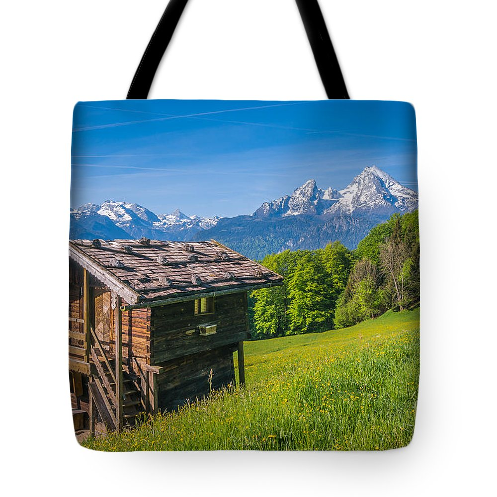 Alpine Tote Bag featuring the photograph Springtime Wonderland by JR Photography