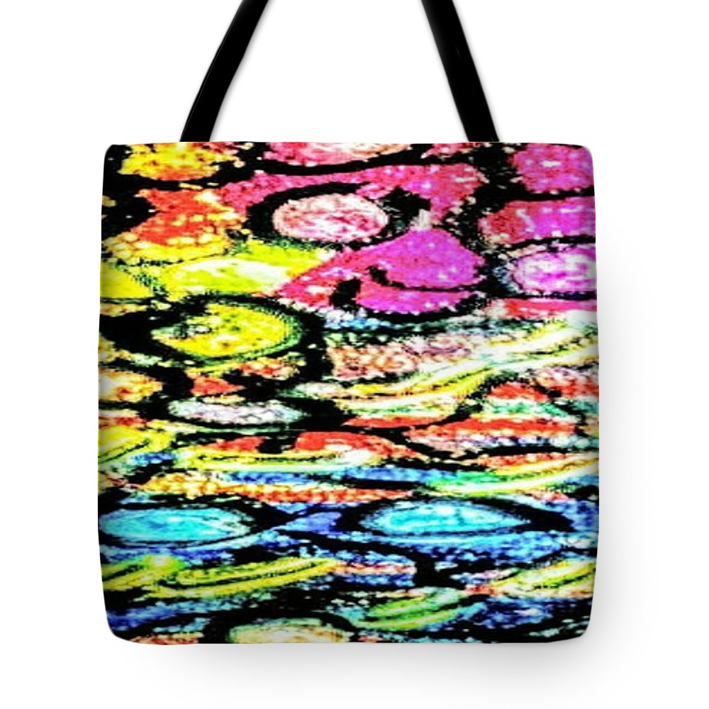 Sprouting Downward Tote Bag featuring the pastel Sprouting Downward by Brenae Cochran