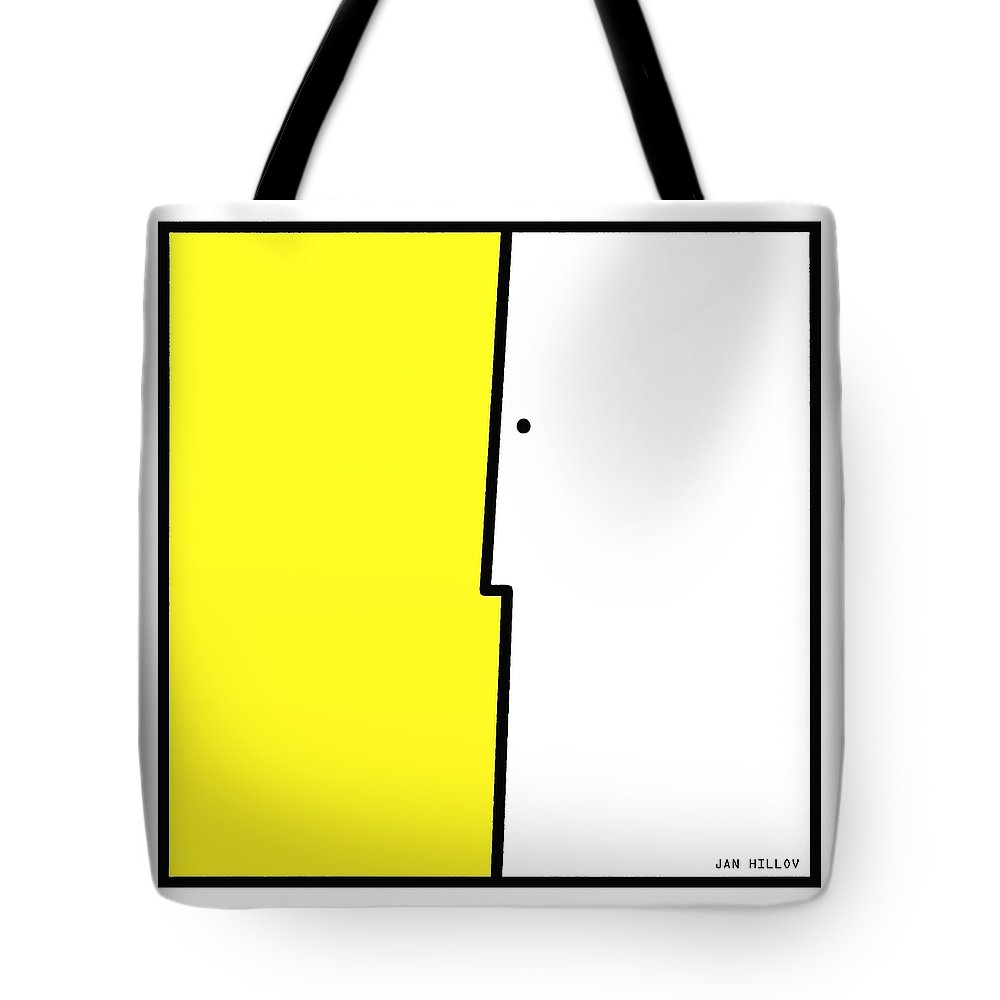 Faces Tote Bag featuring the digital art Squarefaces 1 by Jan Hillov