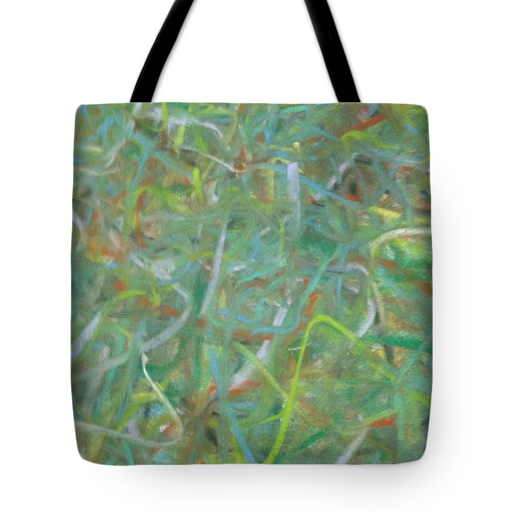 Pastel Tote Bag featuring the pastel Squiggles by Roy Hummel