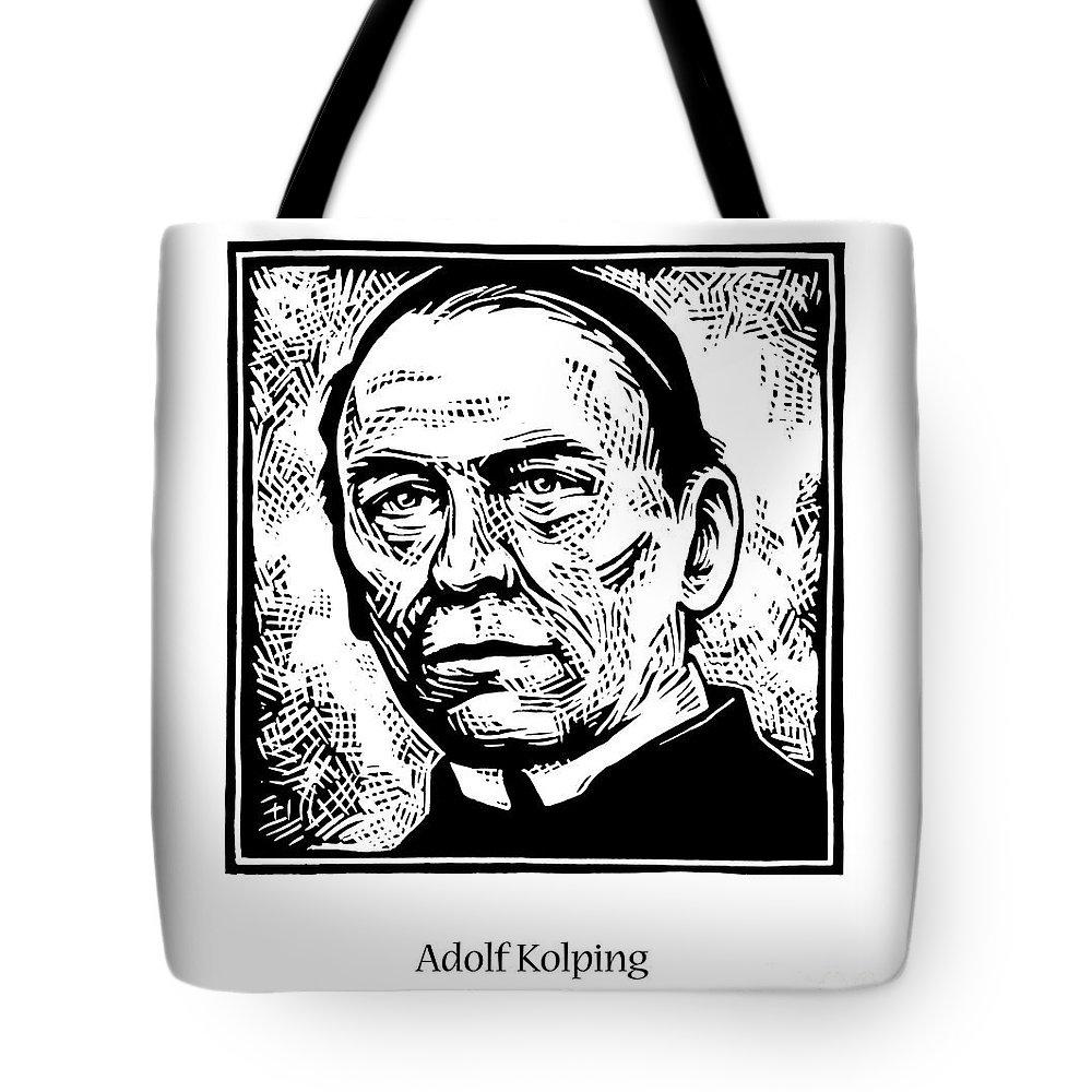 St. Adolf Kolping Tote Bag featuring the painting St. Adolf Kolping - Jladk by Julie Lonneman