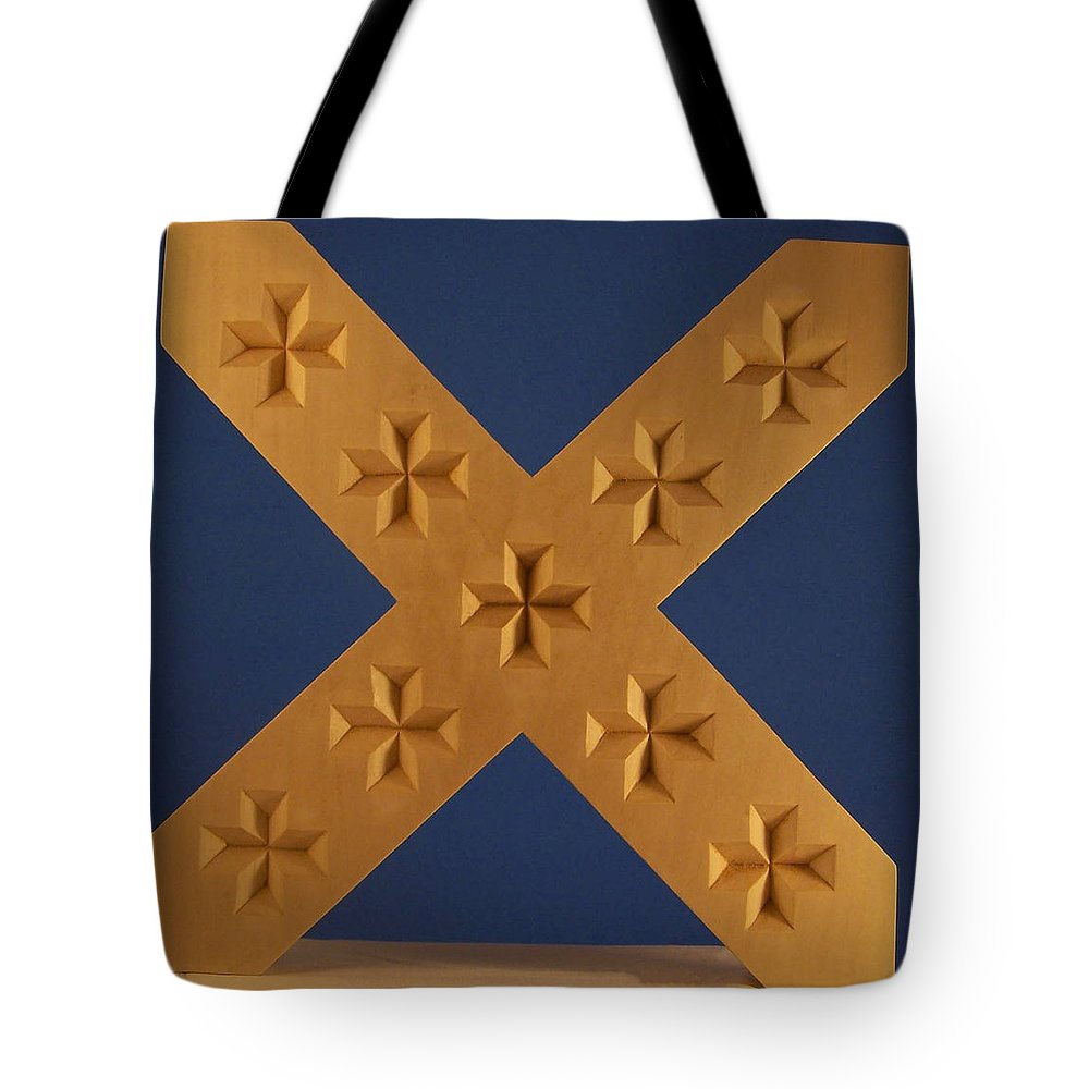 St. Andrews Cross Tote Bag featuring the photograph St. Andrew's Cross by James Pinkerton