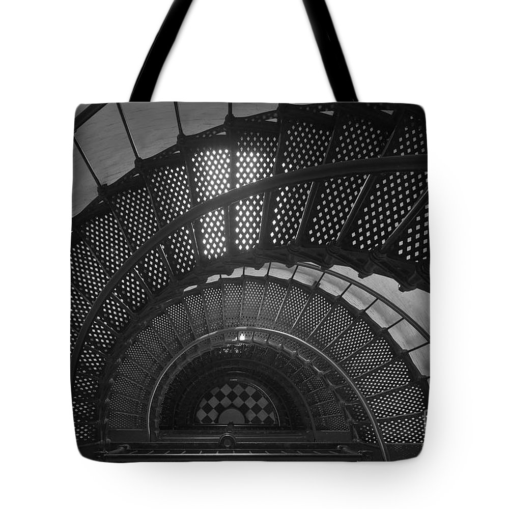 Clarence Holmes Tote Bag featuring the photograph St. Augustine Lighthouse Spiral Staircase II by Clarence Holmes