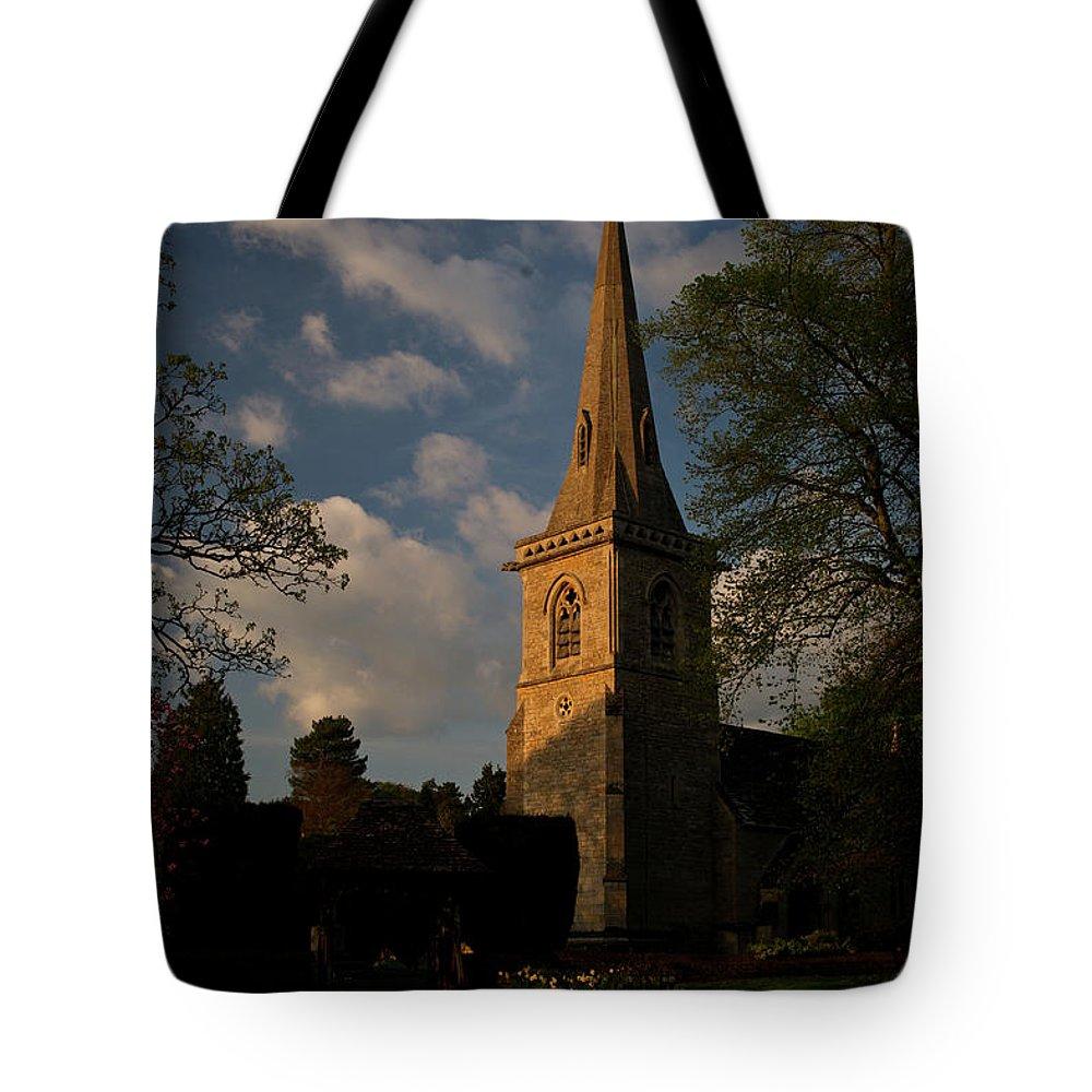St Mary\'s Tote Bag featuring the photograph St Davids Church At Sundown by Douglas Barnett