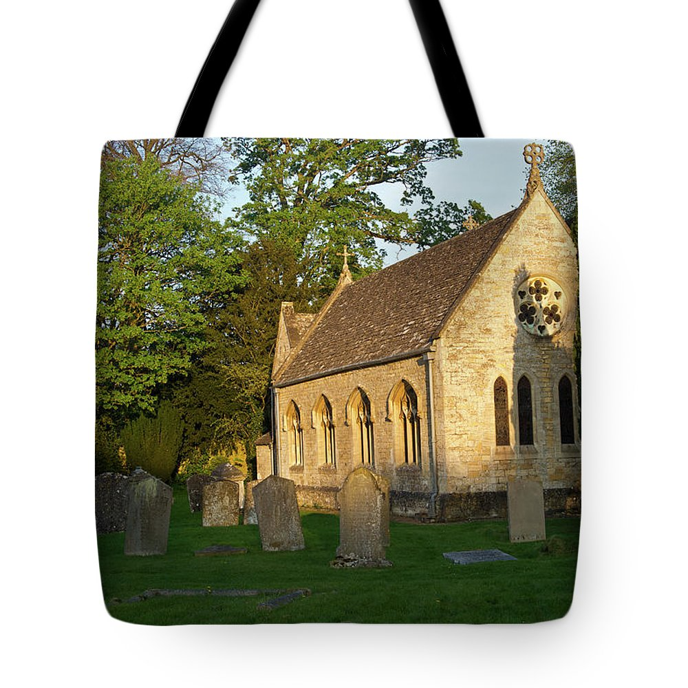 St Mary's Tote Bag featuring the photograph St Davids Church Cemetary 1 by Douglas Barnett