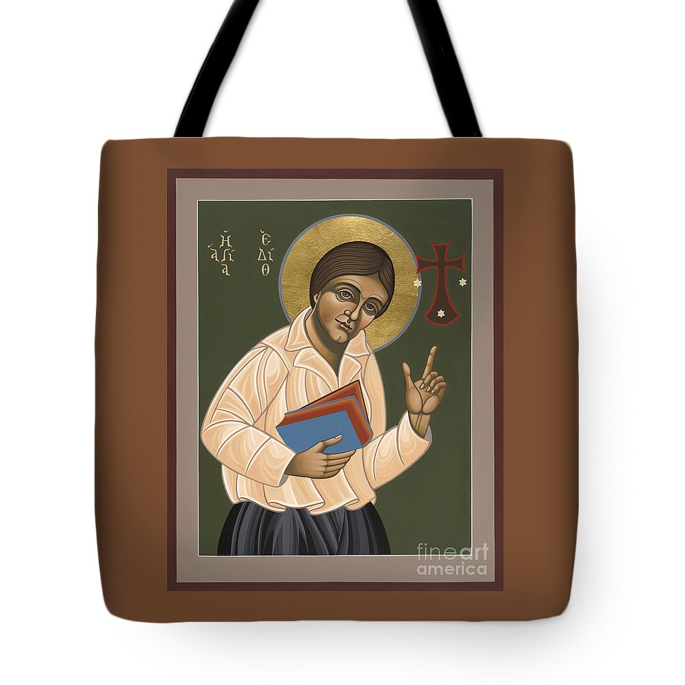 St Edith Stein : Patroness Of Europe Tote Bag featuring the painting St Edith Stein Patroness Of Europe 182 by William Hart McNichols