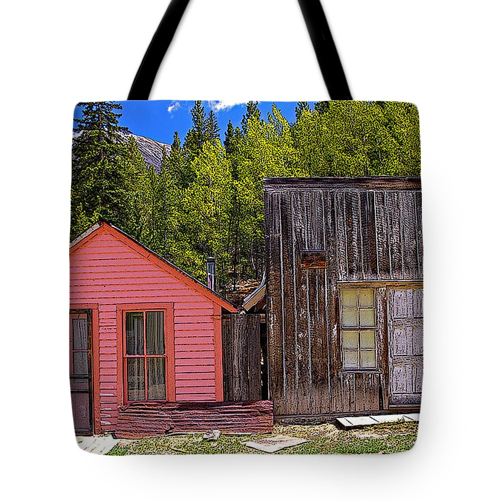 Colorado Tote Bag featuring the photograph St. Elmo Pink House And Barn by Rich Walter
