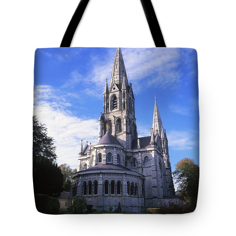Architectural Tote Bag featuring the photograph St Finbarrs Cathedral, Cork City, Co by The Irish Image Collection