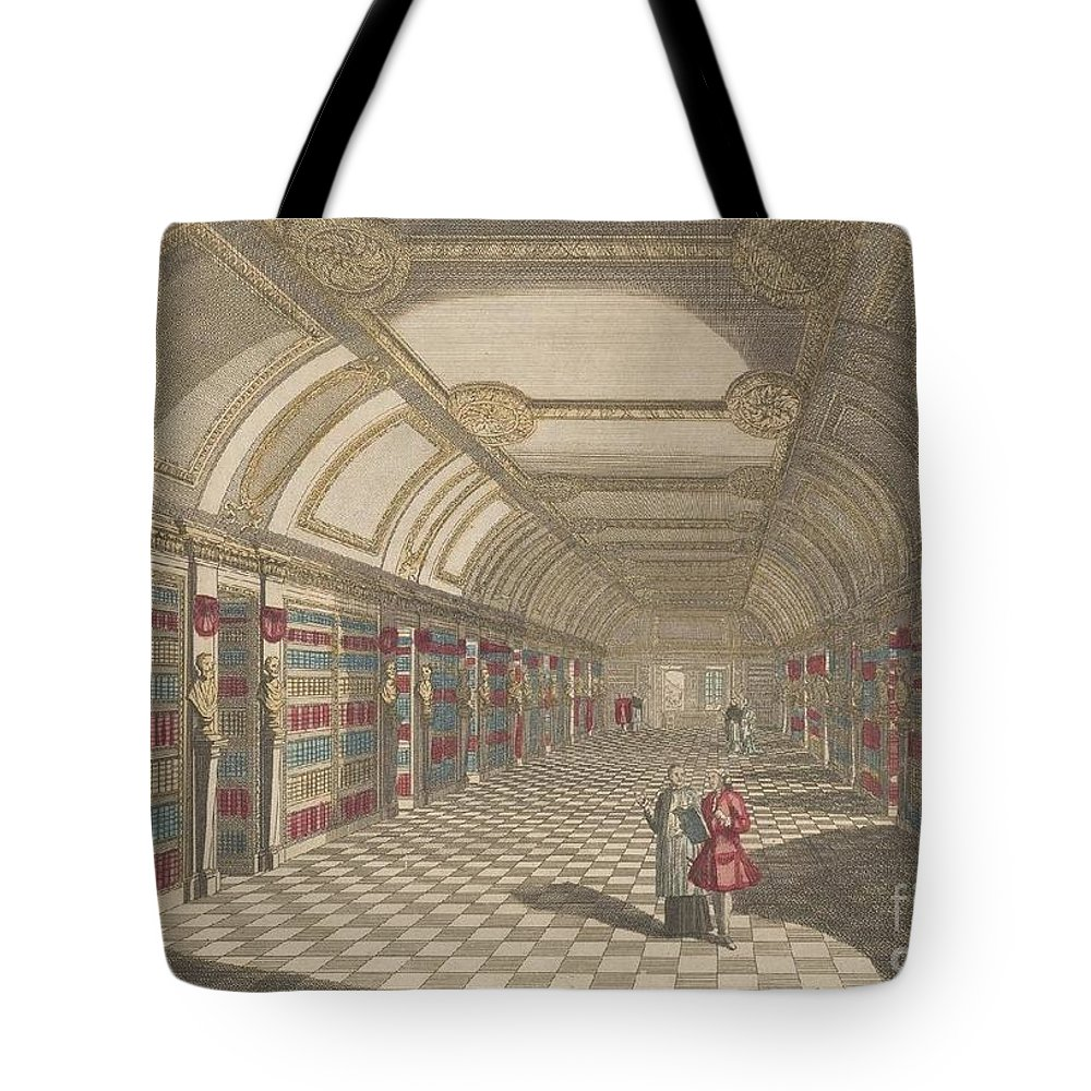 Grand Perspectives Tote Bag featuring the painting St Genevieve by MotionAge Designs