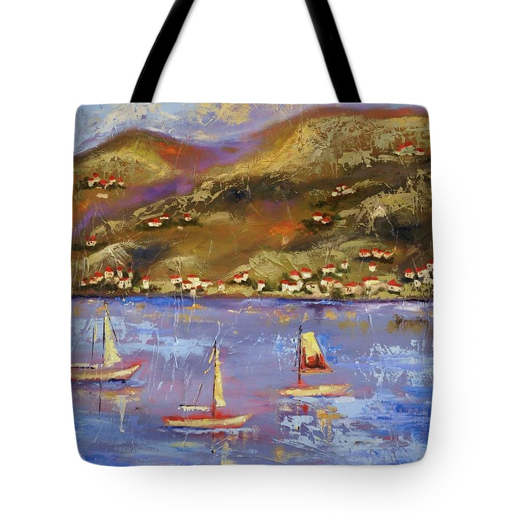 St. John Tote Bag featuring the painting St. John USVI by Ginger Concepcion
