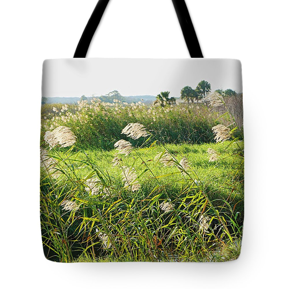 The Lush Wild Floral Life On The St. Johns River. Tote Bag featuring the photograph St Johns River 2 by Jeryl Moore