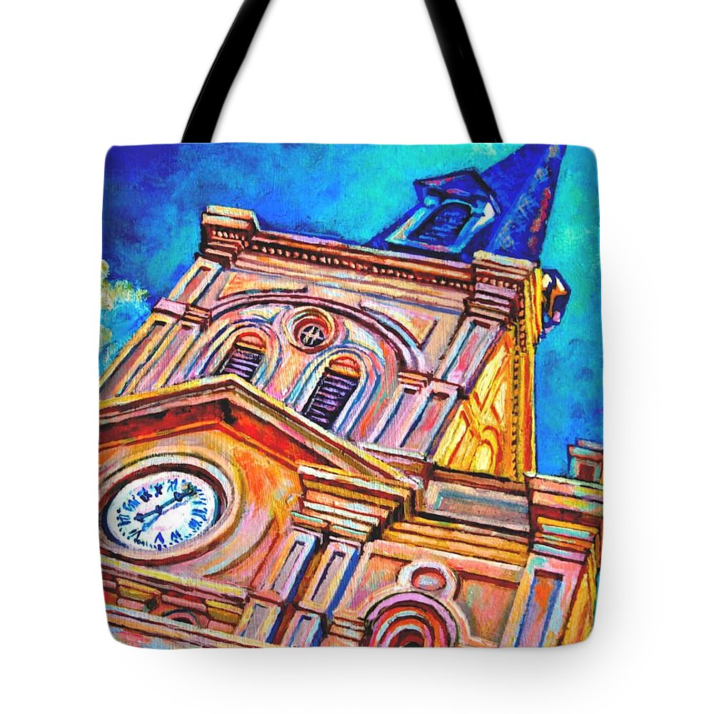 Acrylic Tote Bag featuring the painting St Louis by Lisa Tygier Diamond