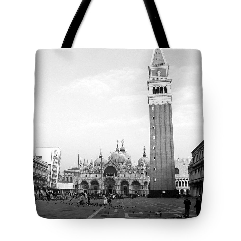 Venice Tote Bag featuring the photograph St. Mark's Square by Donna Corless