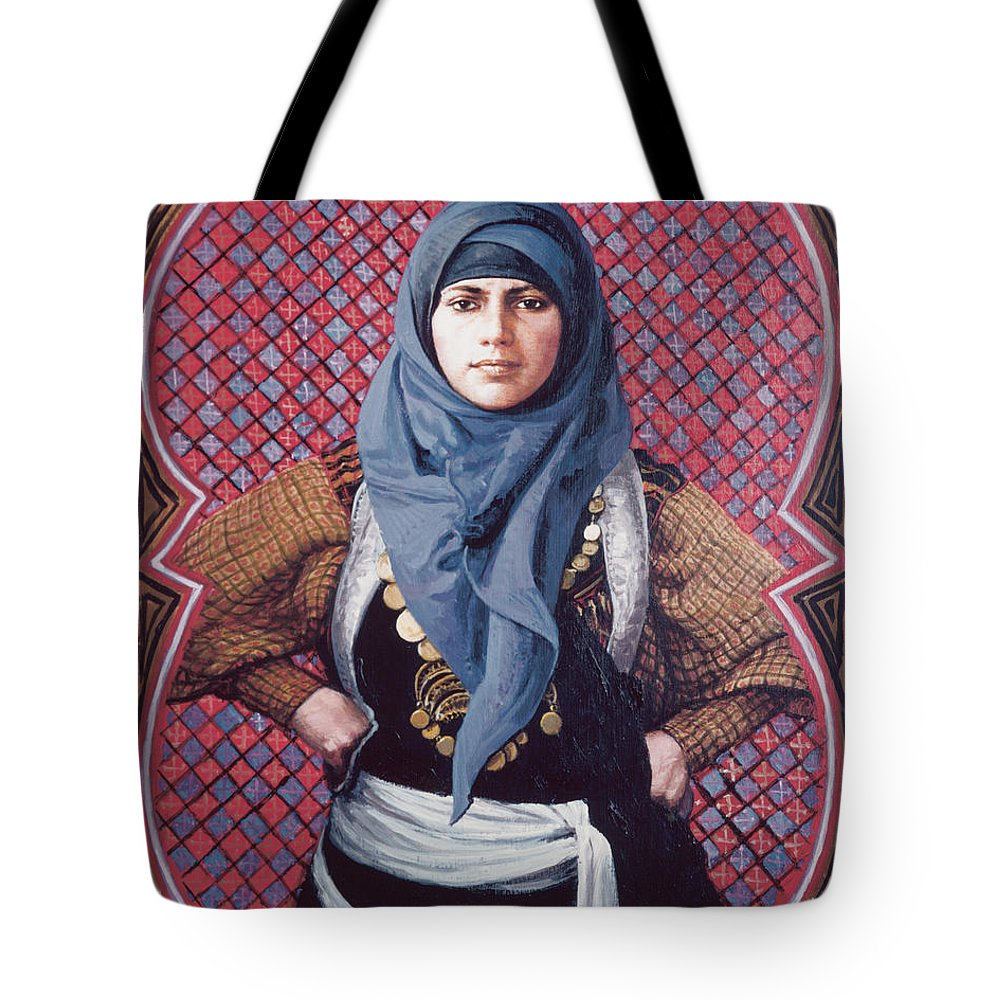 St. Martha Tote Bag featuring the painting St. Martha - Lgmar by Louis Glanzman