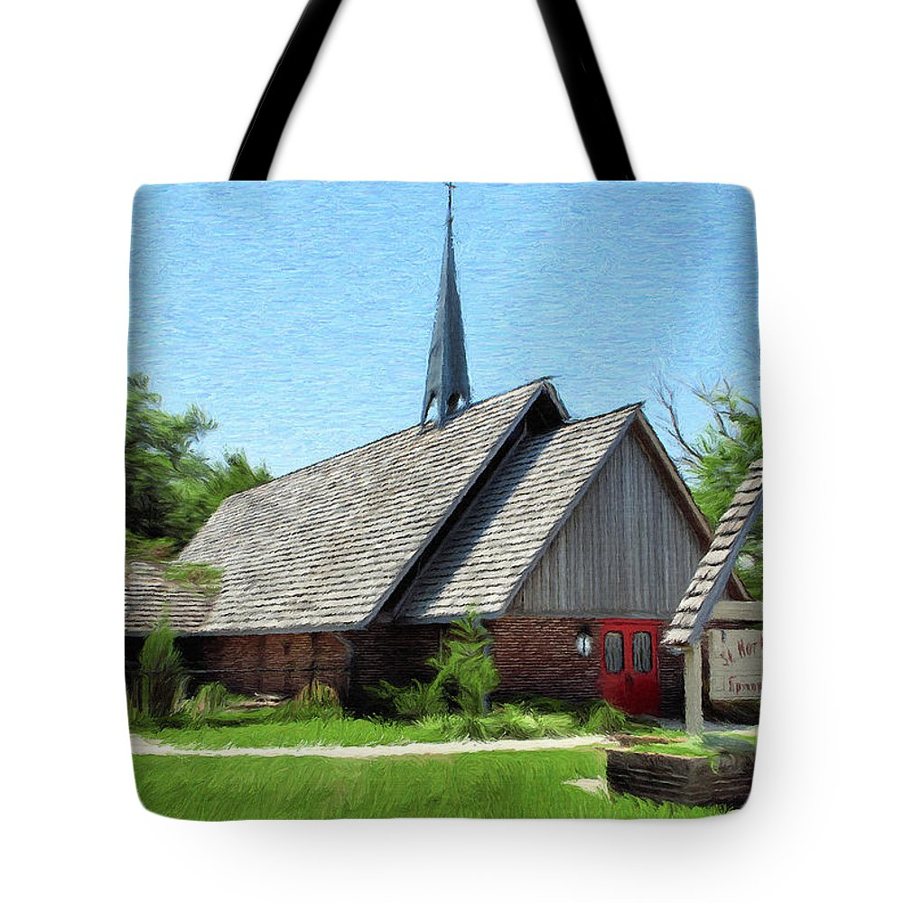 Architecture Tote Bag featuring the painting St Martin Of Tours by Jeffrey Kolker