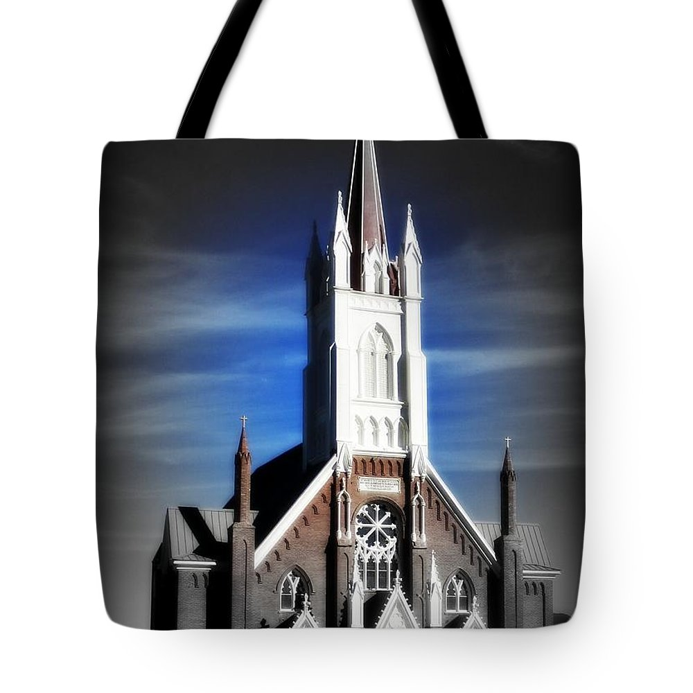 Church Tote Bag featuring the photograph St. Mary In The Mountains by Joy Patzner