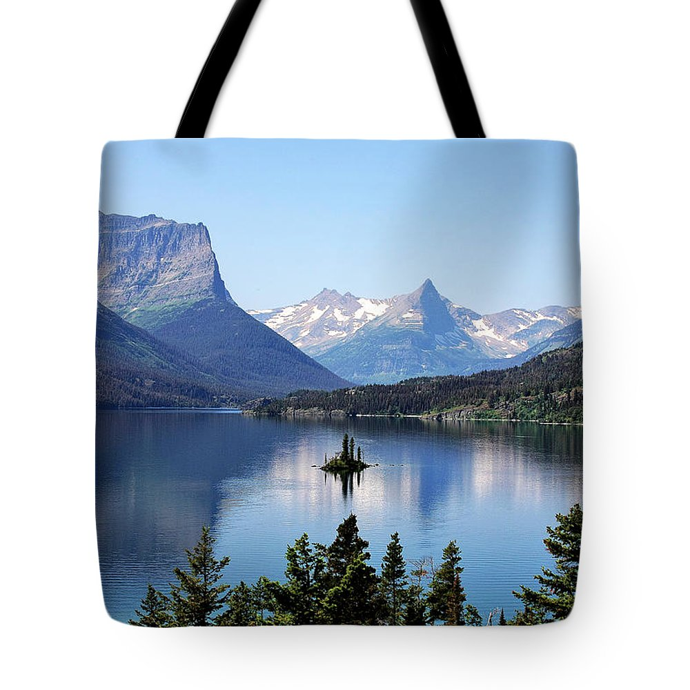 St Mary Lake Tote Bag featuring the photograph St Mary Lake - Glacier National Park Mt by Christine Till
