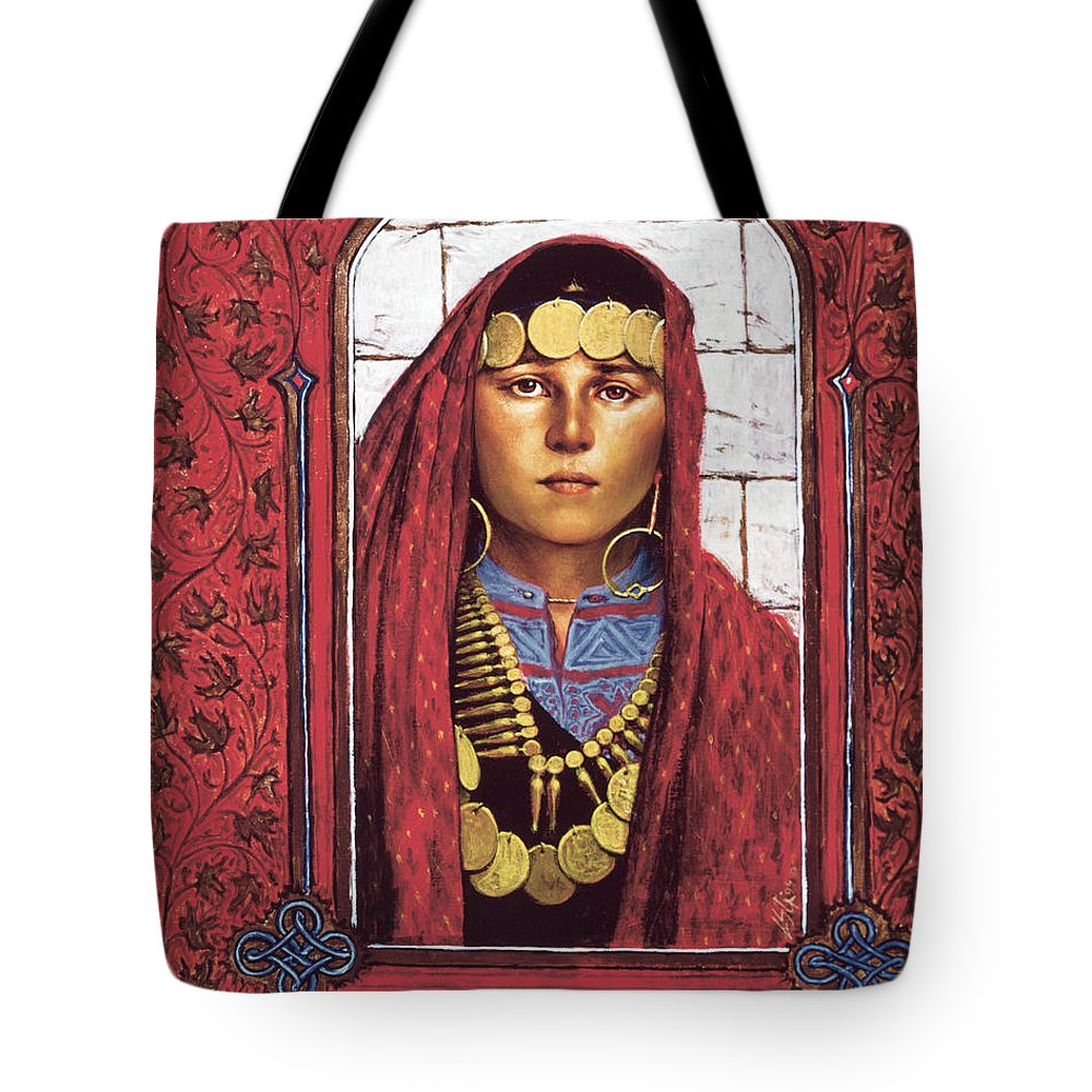 St. Mary Magdalene Tote Bag featuring the painting St. Mary Magdalene - Lgmag by Louis Glanzman